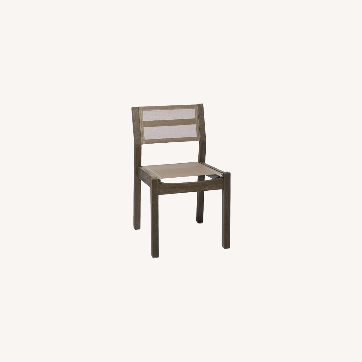 West Elm Portside Textiline Chair, Weathered Cafe - image-0