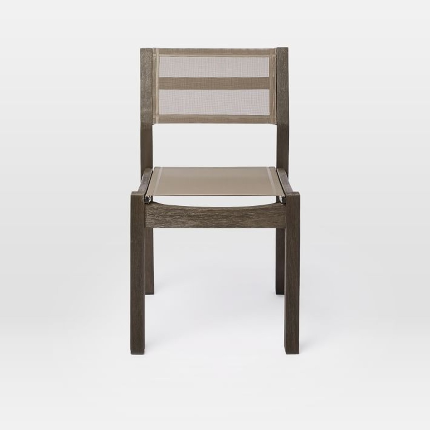 West Elm Portside Textiline Chair, Weathered Cafe - image-1