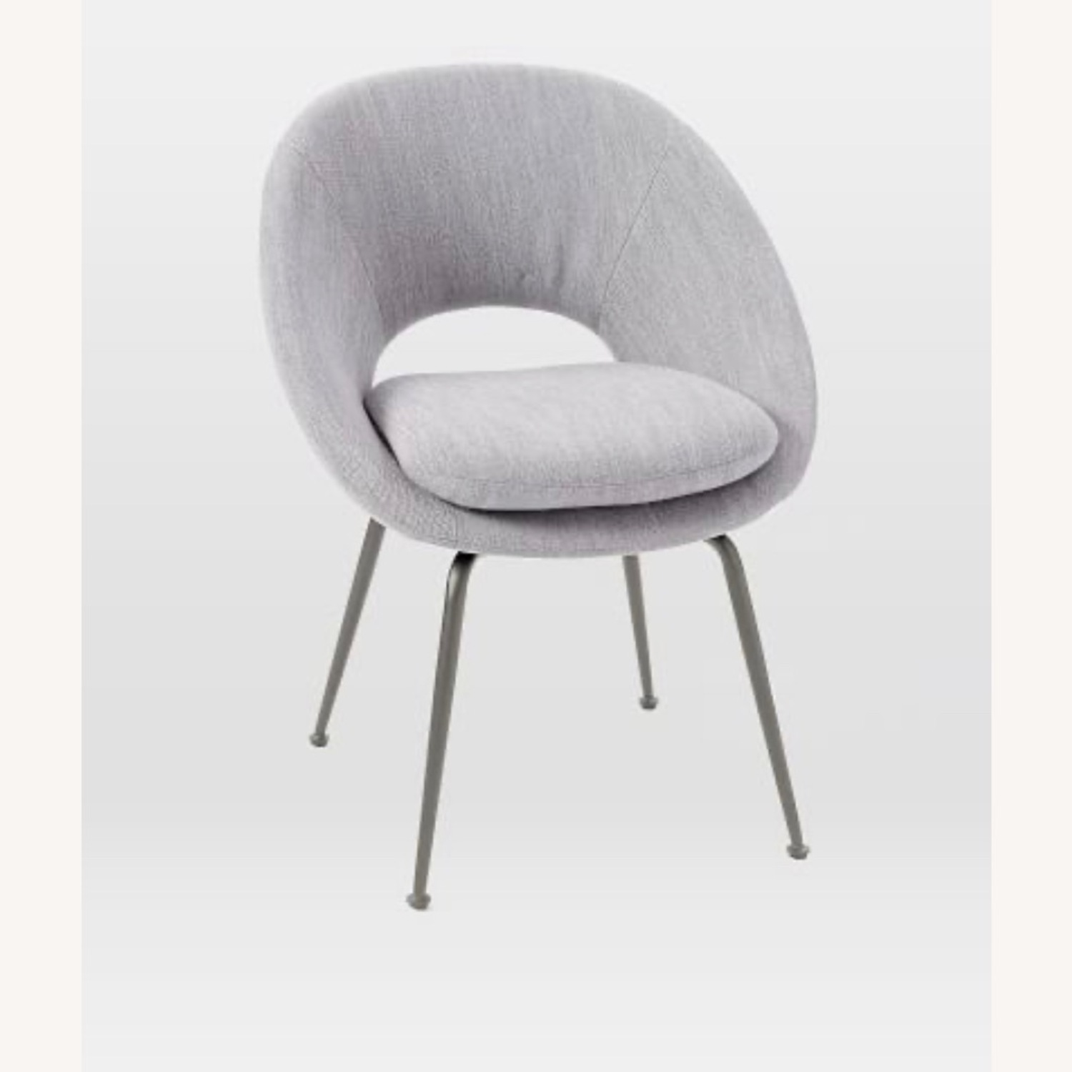 West Elm Orb Dining Chair Linen Weave - image-1