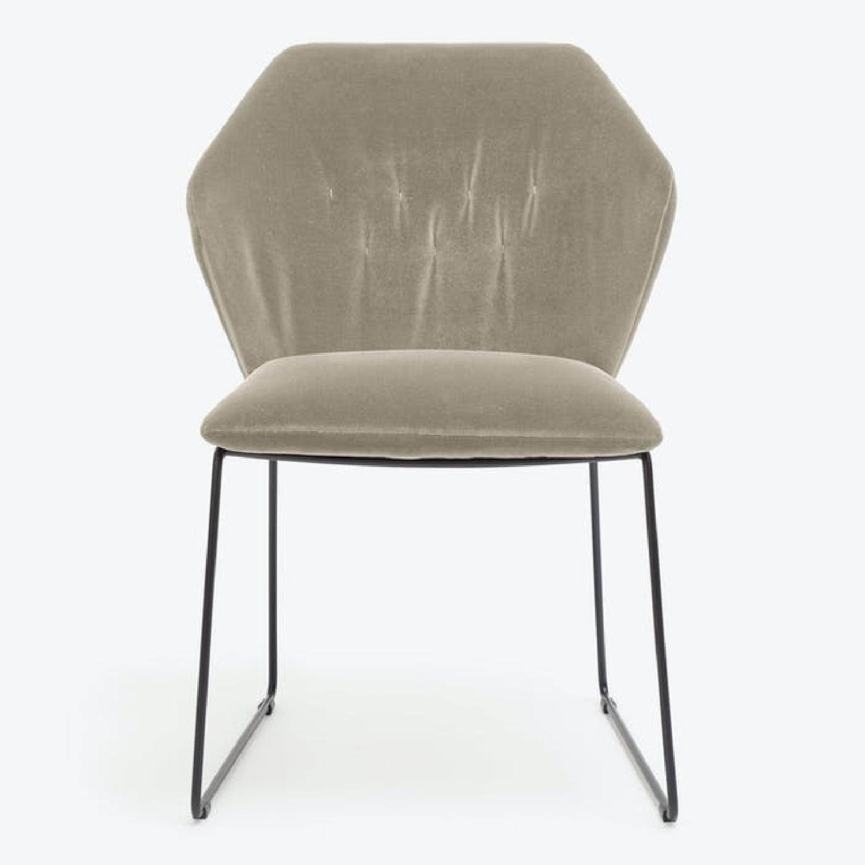 ABC Home Velvet Accent Chair - image-0