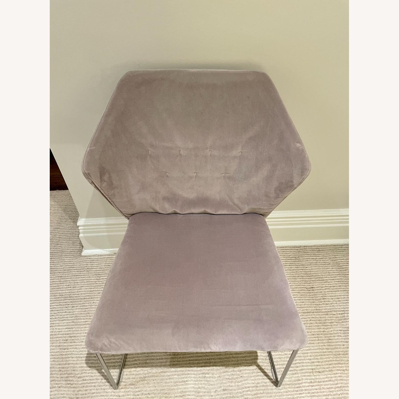 ABC Home Velvet Accent Chair - image-1