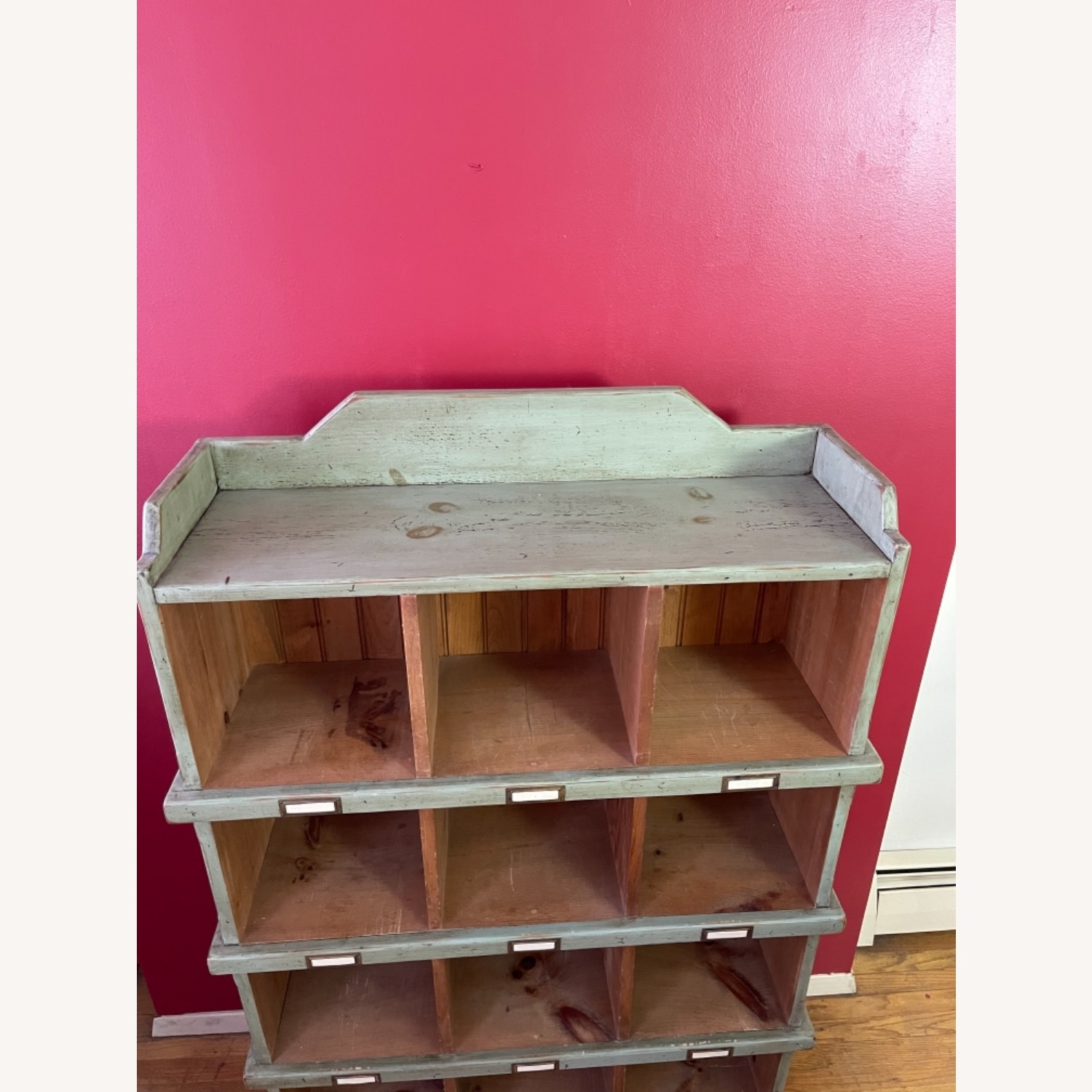 Distressed custom-made Repurposed Pine Bin Storage - image-4