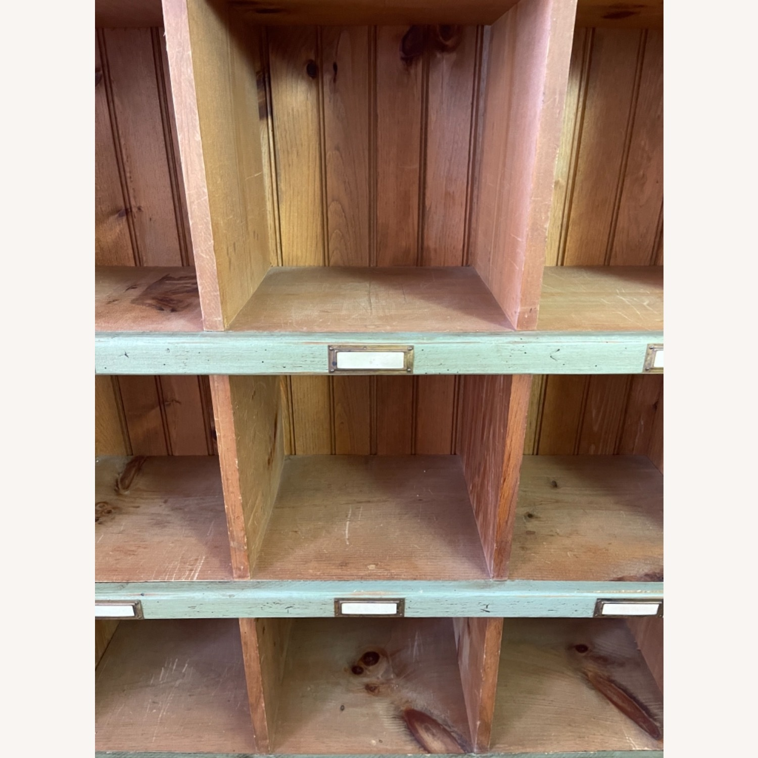 Distressed custom-made Repurposed Pine Bin Storage - image-3