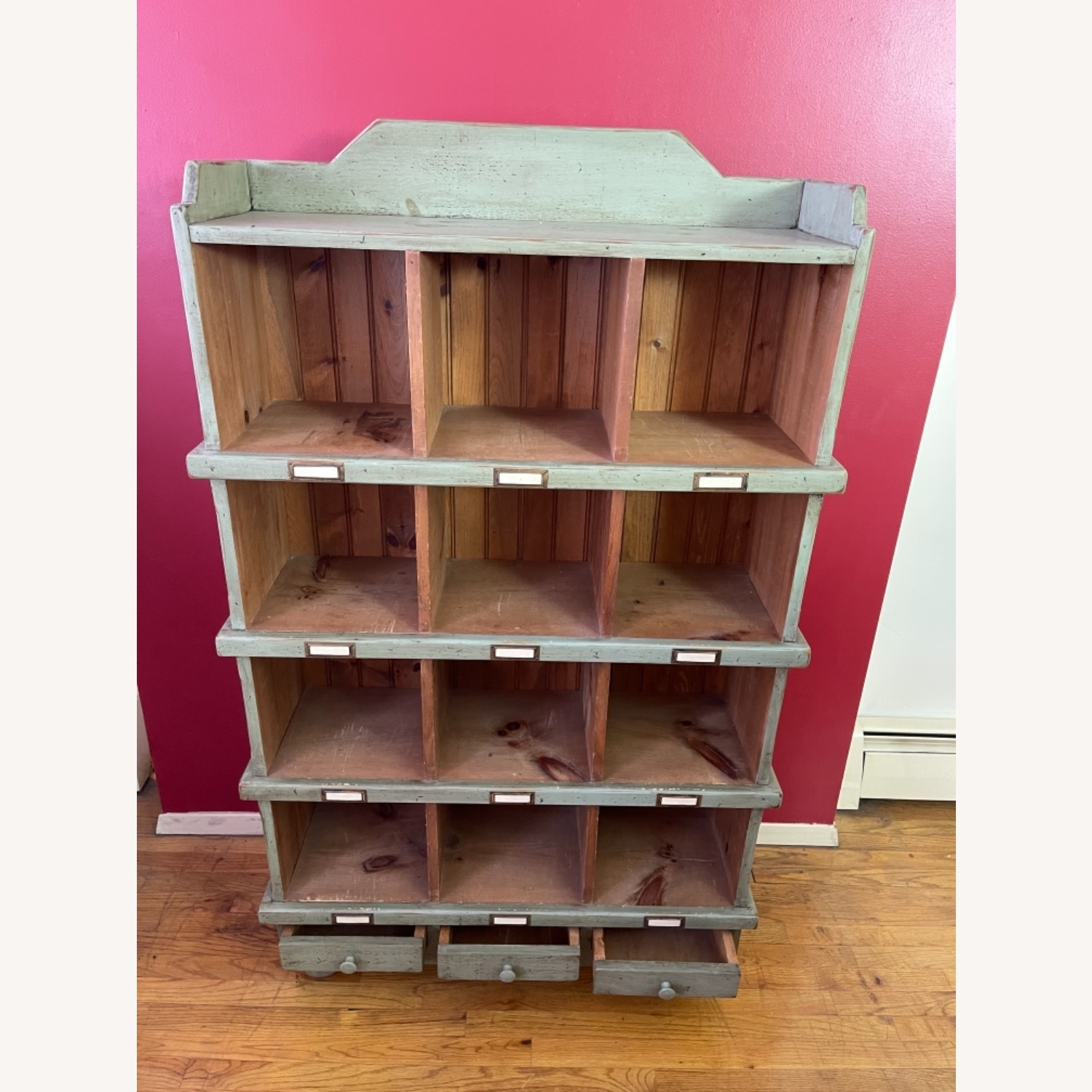 Distressed custom-made Repurposed Pine Bin Storage - image-2