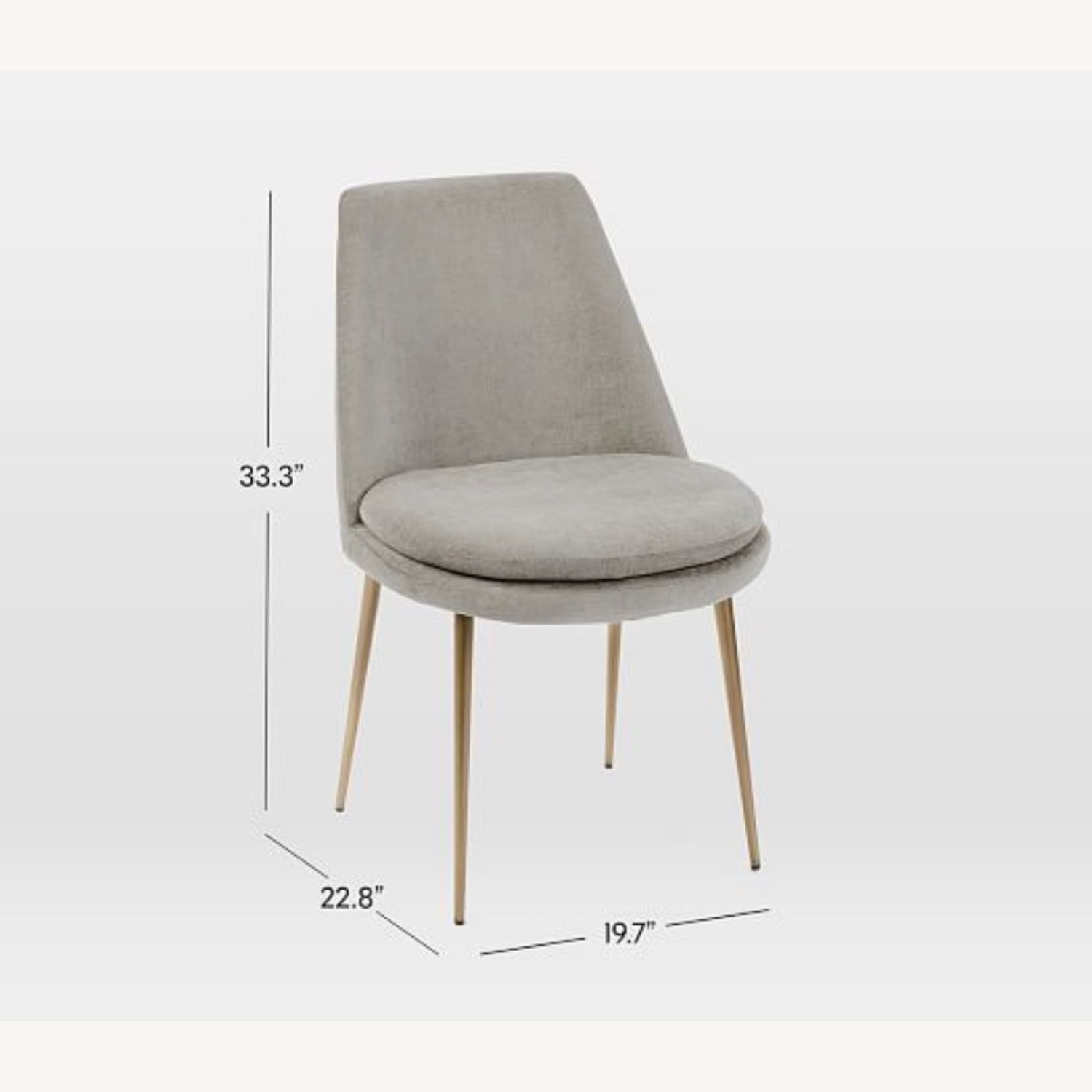 West Elm Finley Low Back Dining Chair - image-3