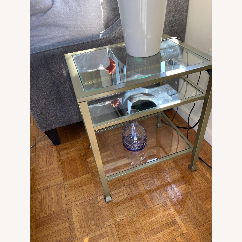 Matte Gold Metal Glass Side Tables (set of 4) - image-4