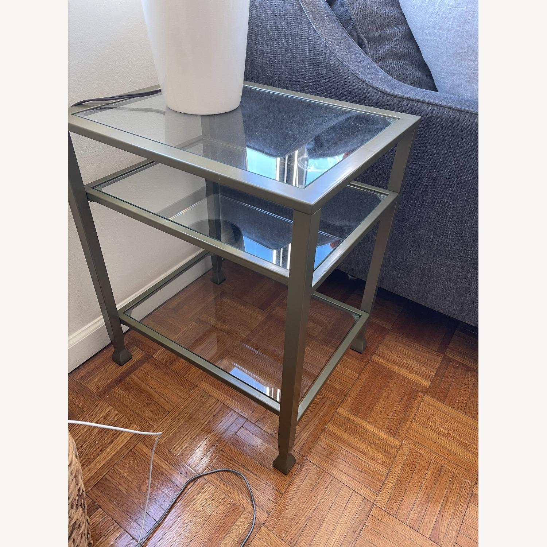 Matte Gold Metal Glass Side Tables (set of 4) - image-1