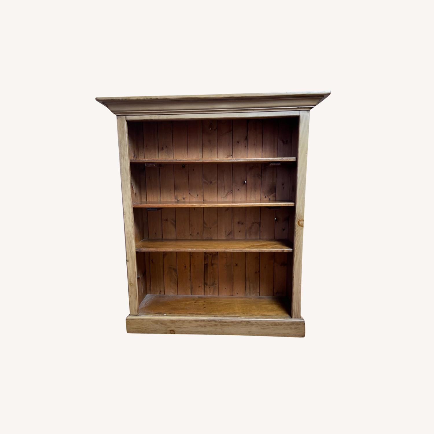 Distressed Adjustable Shelf Repurposed Pine Bookcase - image-0