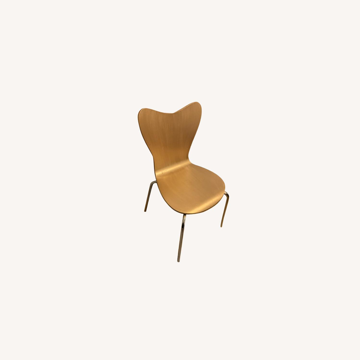 West Elm GOLD Painted Dining Chairs - image-0