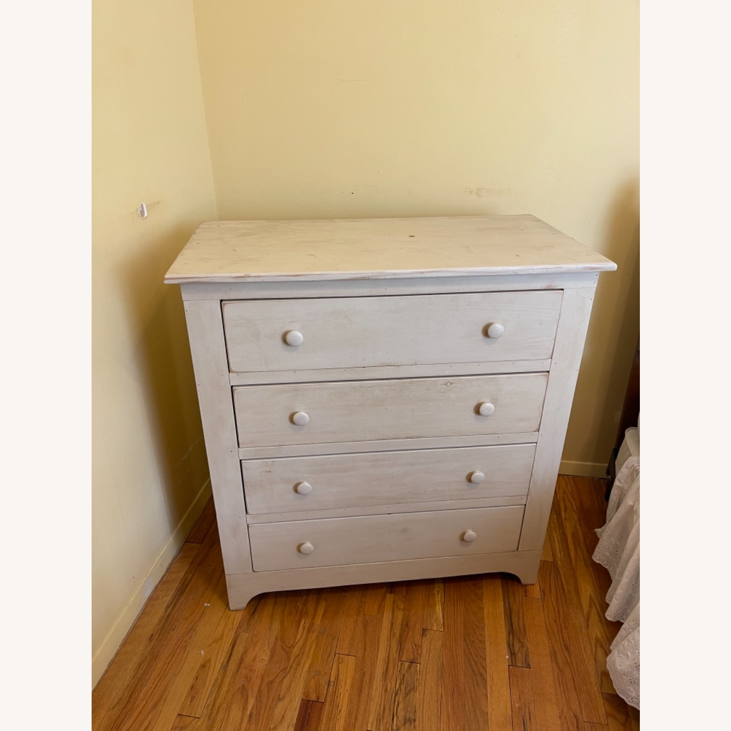 Distressed Americana 4-drawer Solid Pine Bureau - image-3