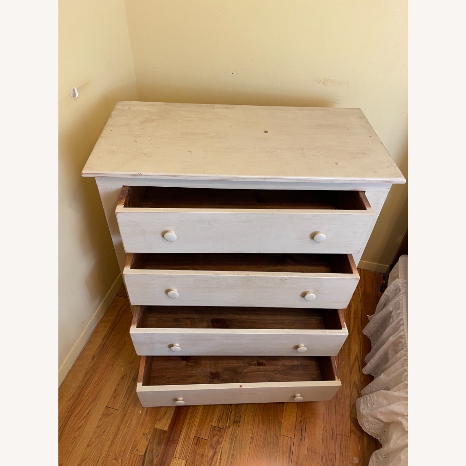 Distressed Americana 4-drawer Solid Pine Bureau - image-2