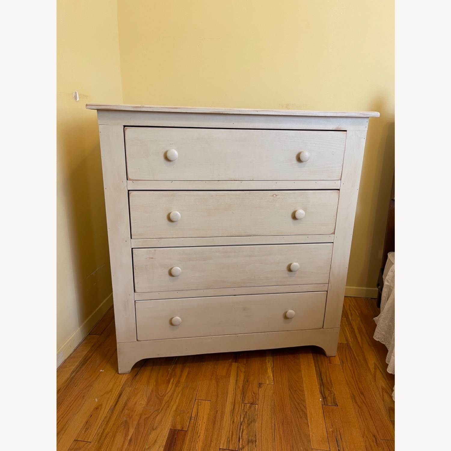 Distressed Americana 4-drawer Solid Pine Bureau - image-1