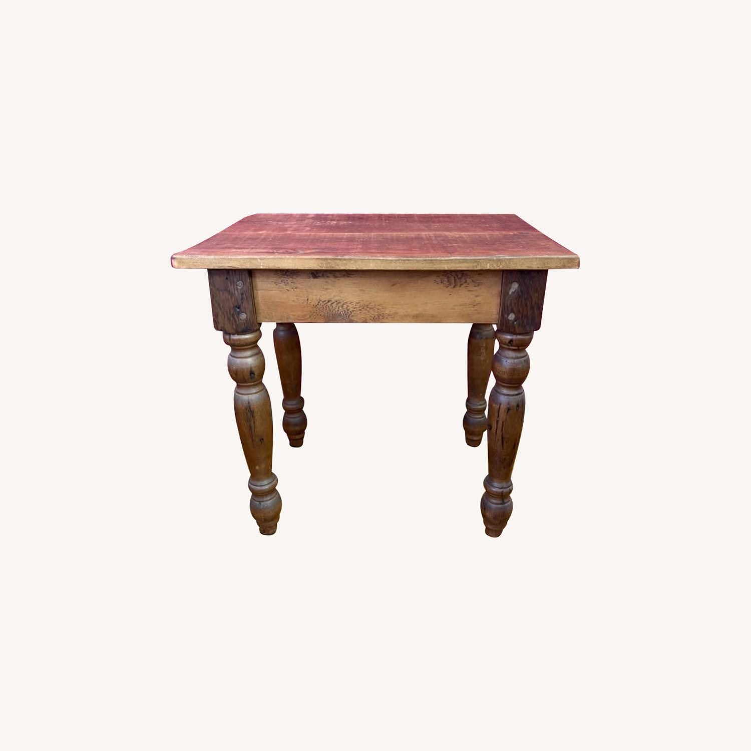 Solid Repurposed Pine Wooden Side Table - image-0