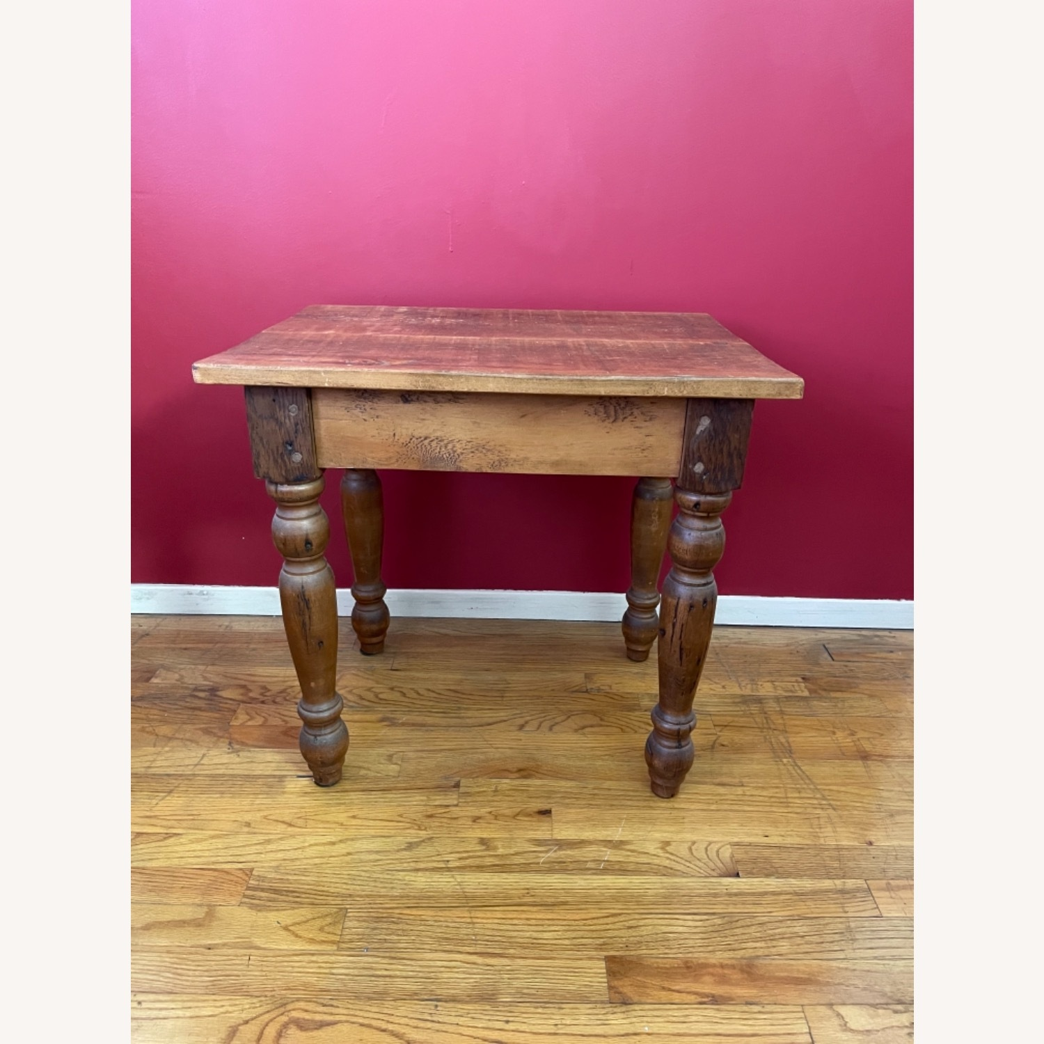 Solid Repurposed Pine Wooden Side Table - image-1