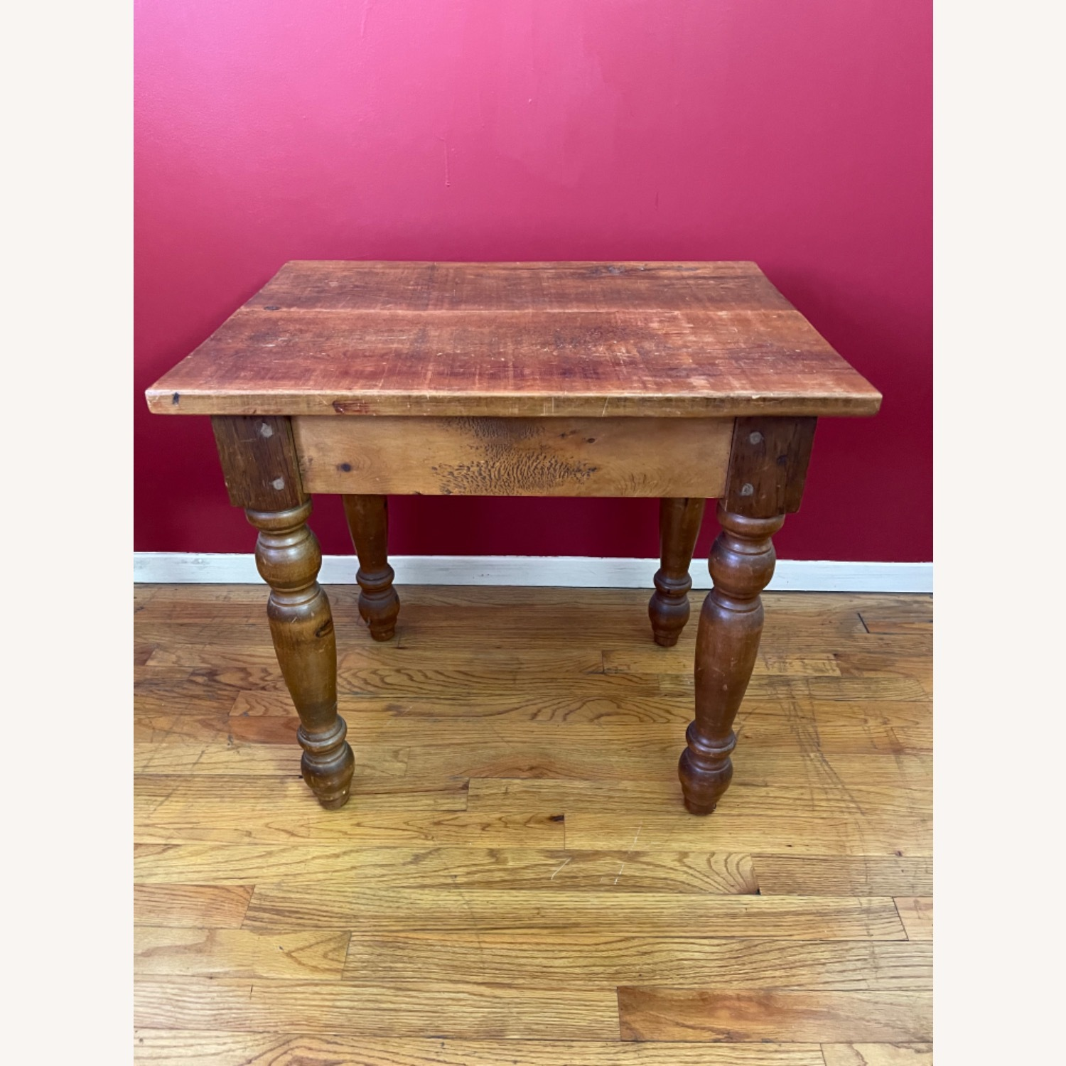 Solid Repurposed Pine Wooden Side Table - image-3