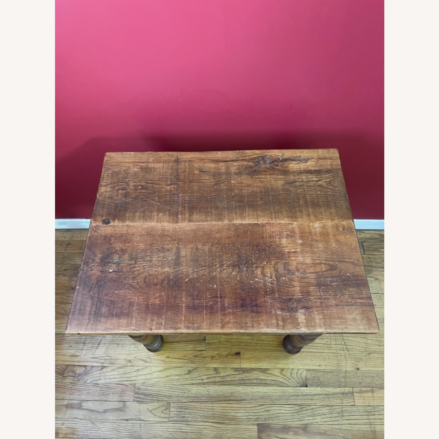 Solid Repurposed Pine Wooden Side Table - image-2