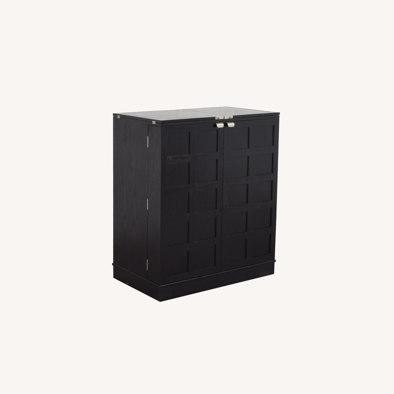 Crate & Barrel Steamer Bar Cabinet - image-0