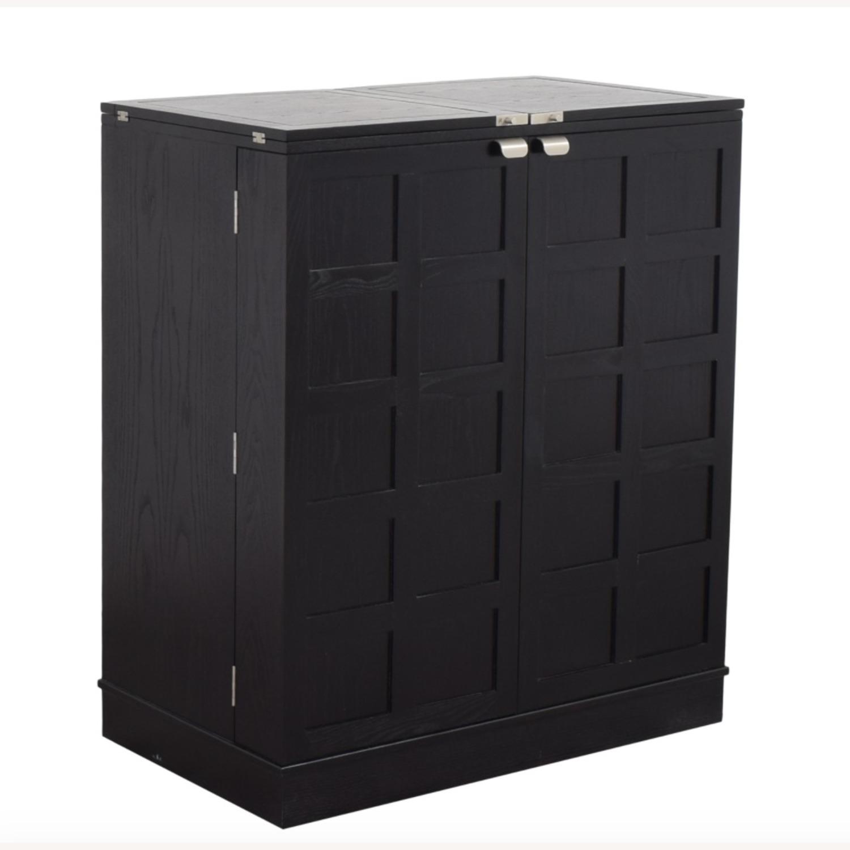Crate & Barrel Steamer Bar Cabinet - image-1