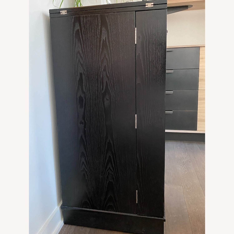 Crate & Barrel Steamer Bar Cabinet - image-3