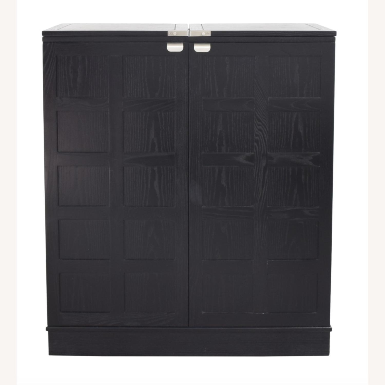 Crate & Barrel Steamer Bar Cabinet - image-6