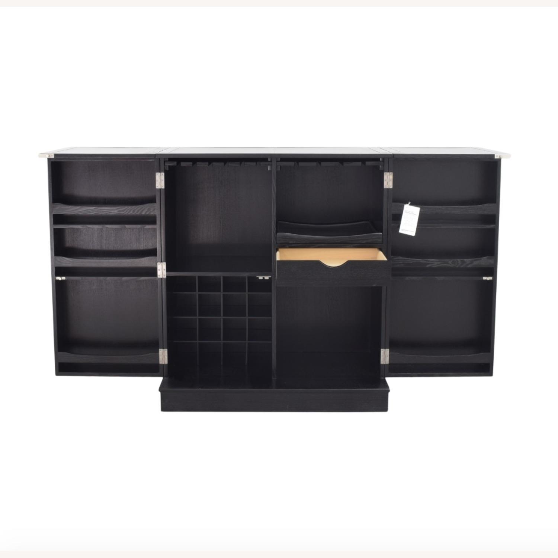 Crate & Barrel Steamer Bar Cabinet - image-5