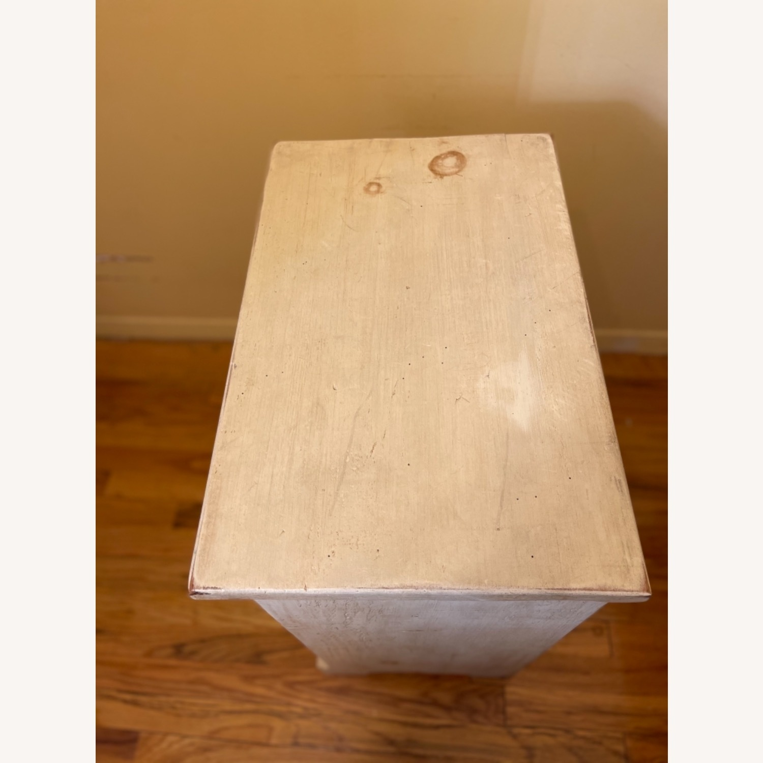 4 Drawer Custom Designed Hand Painted Side Table - image-4