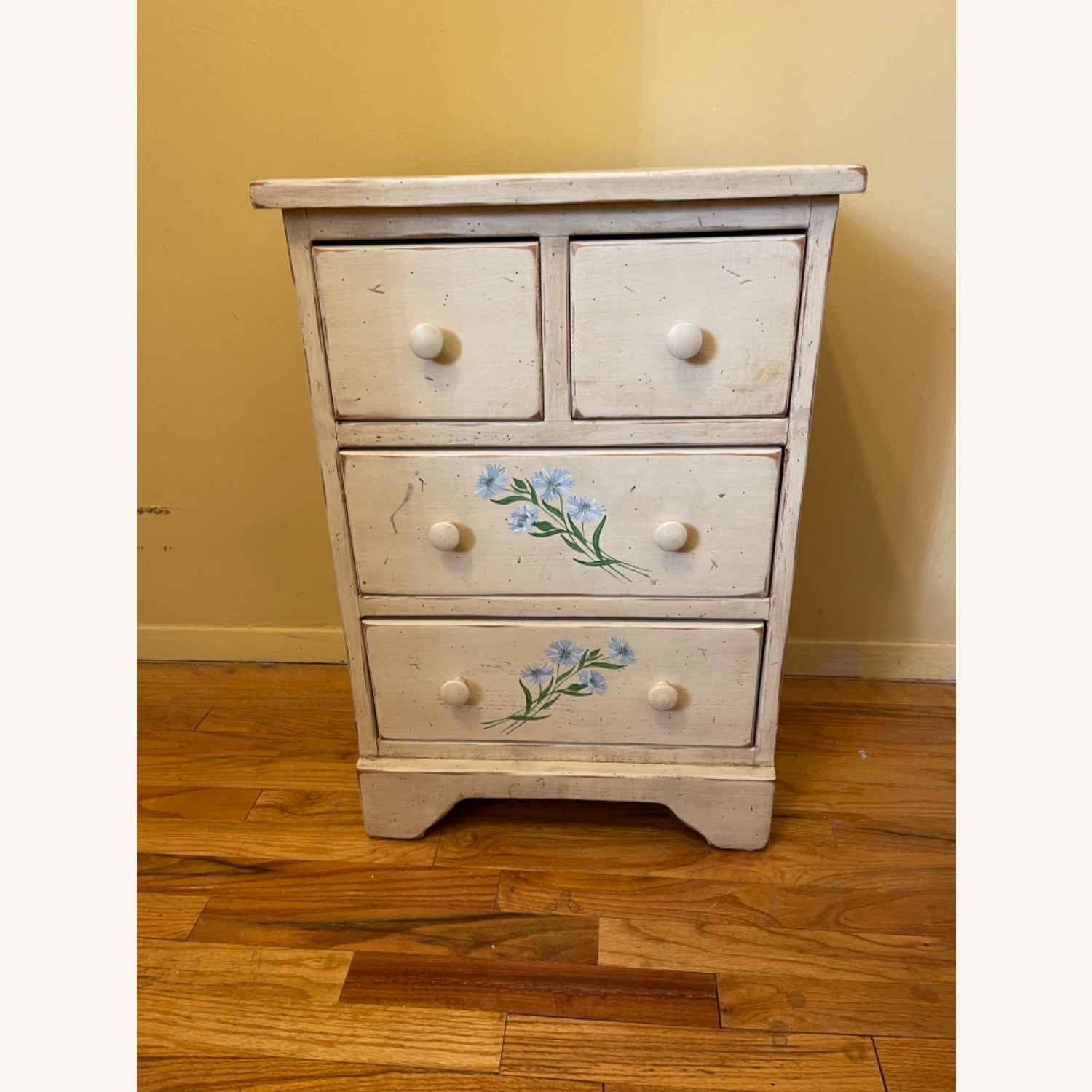 4 Drawer Custom Designed Hand Painted Side Table - image-2