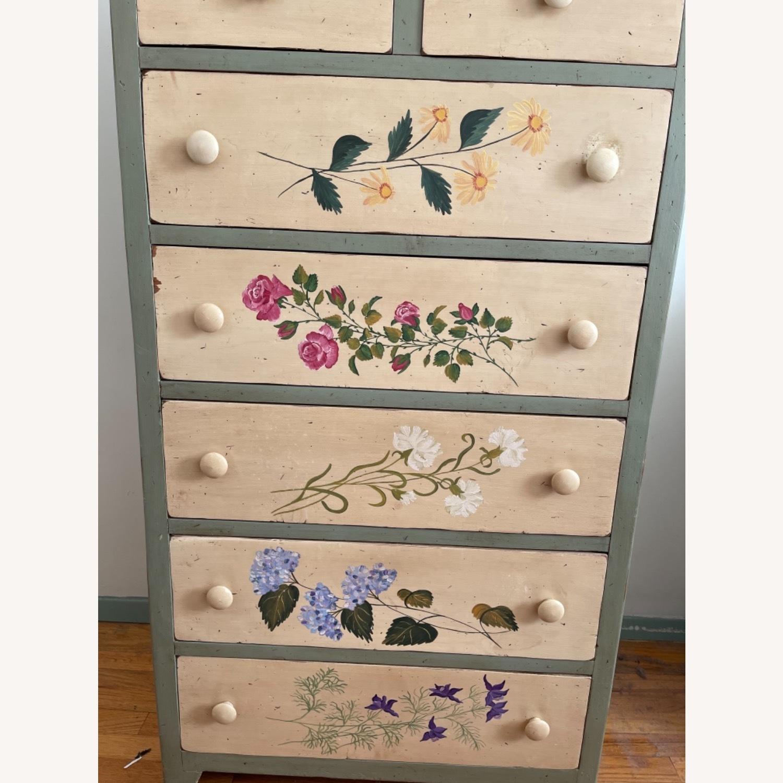 Custom Designed Repurposed Pine Dresser w/ flowers - image-2