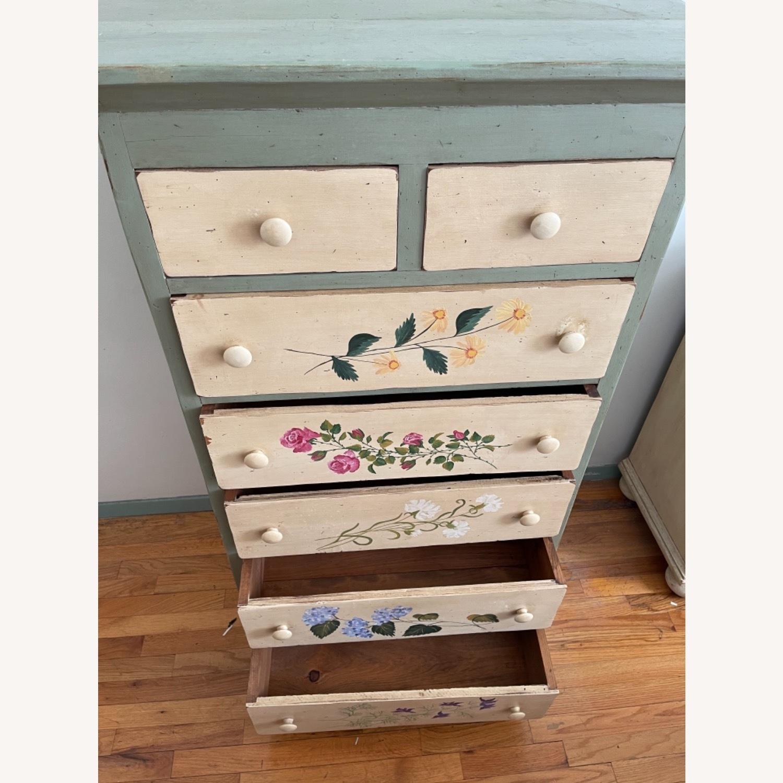 Custom Designed Repurposed Pine Dresser w/ flowers - image-3