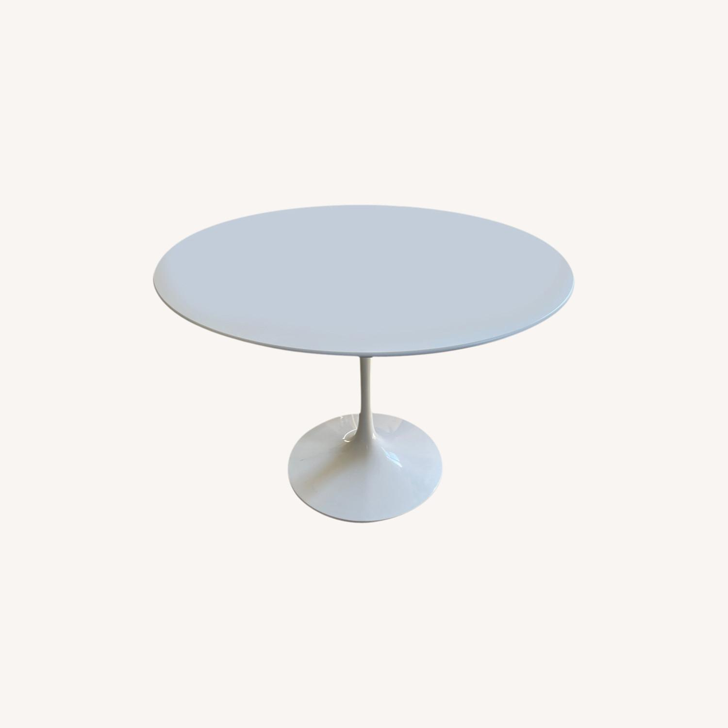 Knoll White Dining Table - image-0