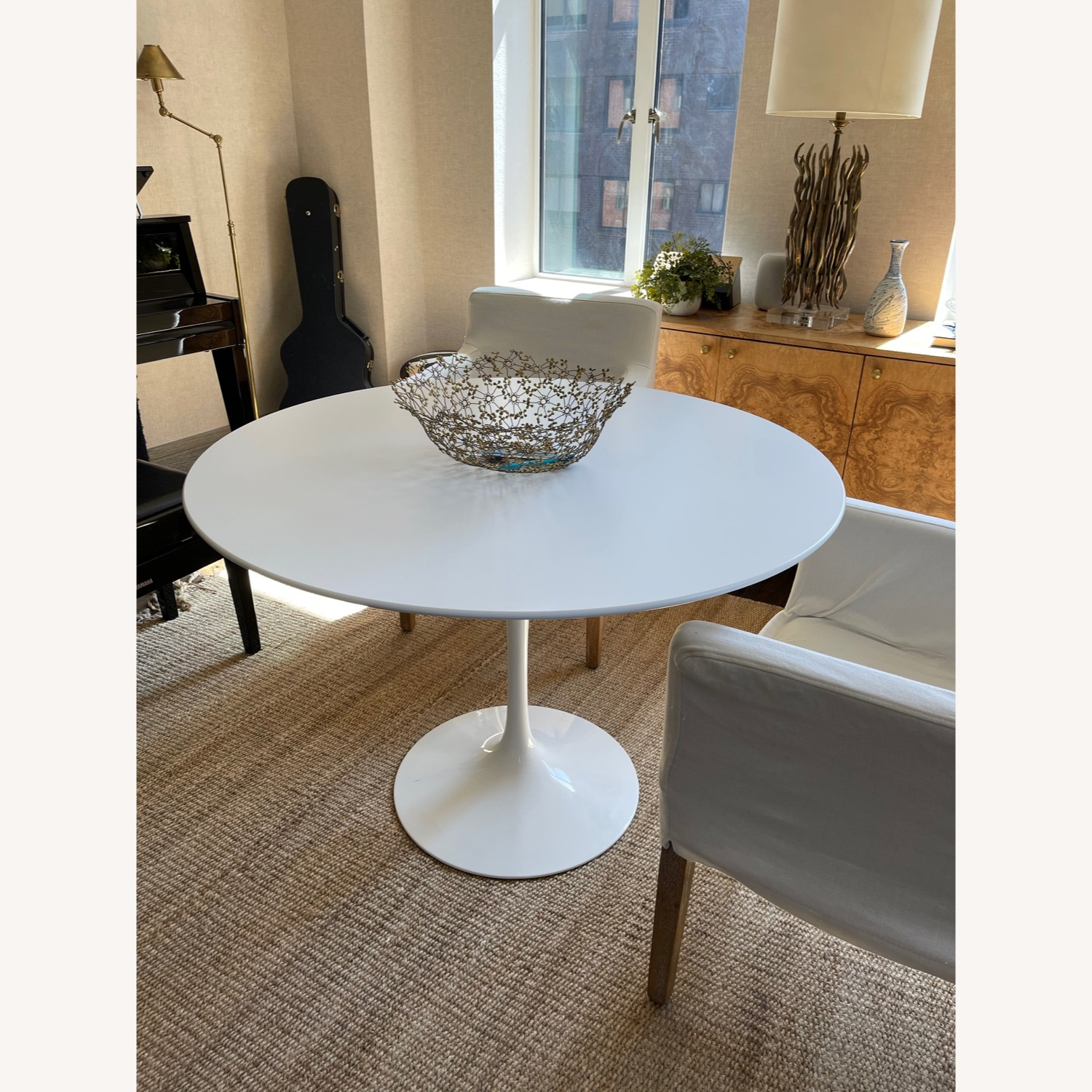 Knoll White Dining Table - image-1