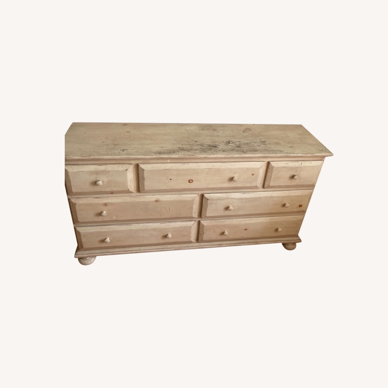Distressed Solid Pine 7 Drawer Dresser - image-0