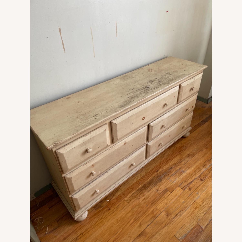 Distressed Solid Pine 7 Drawer Dresser - image-3