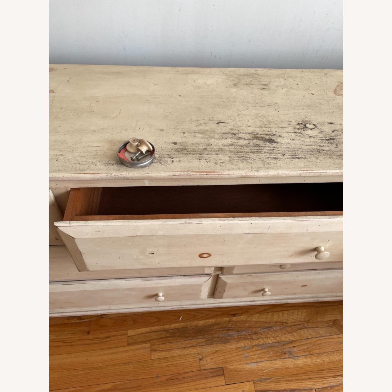 Distressed Solid Pine 7 Drawer Dresser - image-7