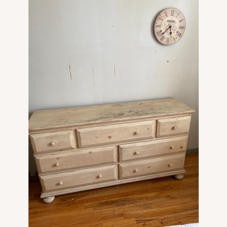 Distressed Solid Pine 7 Drawer Dresser - image-2