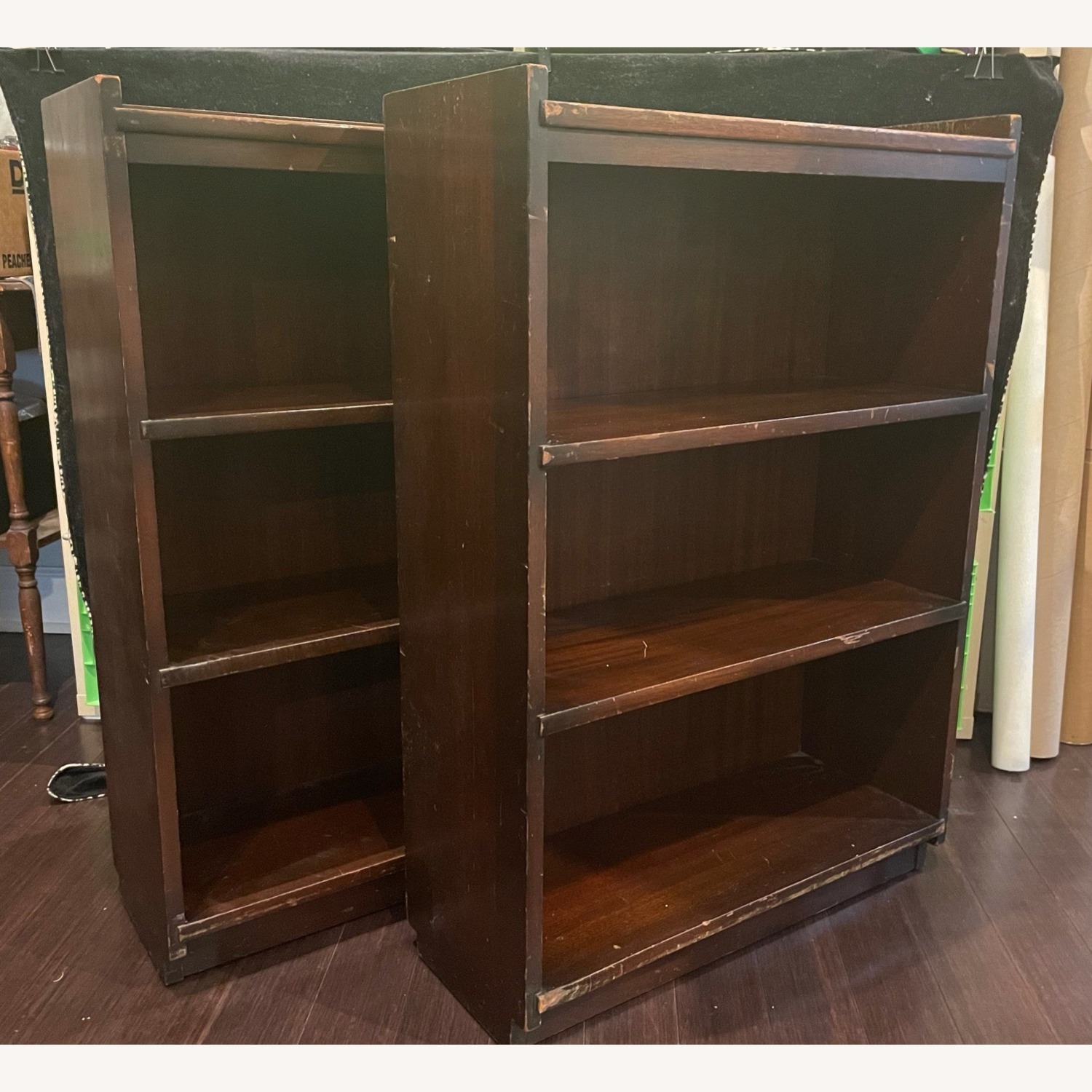 Pair of Wood Bookcases - image-2