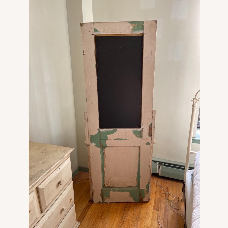 Custom Distressed Repurposed Pine Vanity w/ mirror - image-5