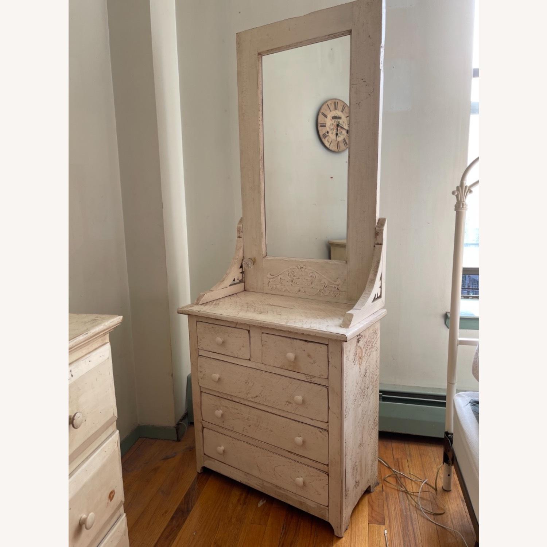 Custom Distressed Repurposed Pine Vanity w/ mirror - image-1
