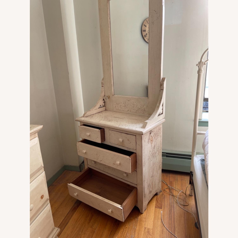Custom Distressed Repurposed Pine Vanity w/ mirror - image-2