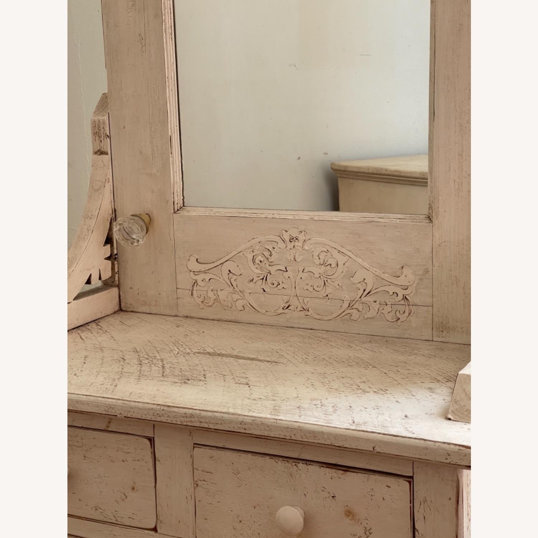 Custom Distressed Repurposed Pine Vanity w/ mirror - image-3
