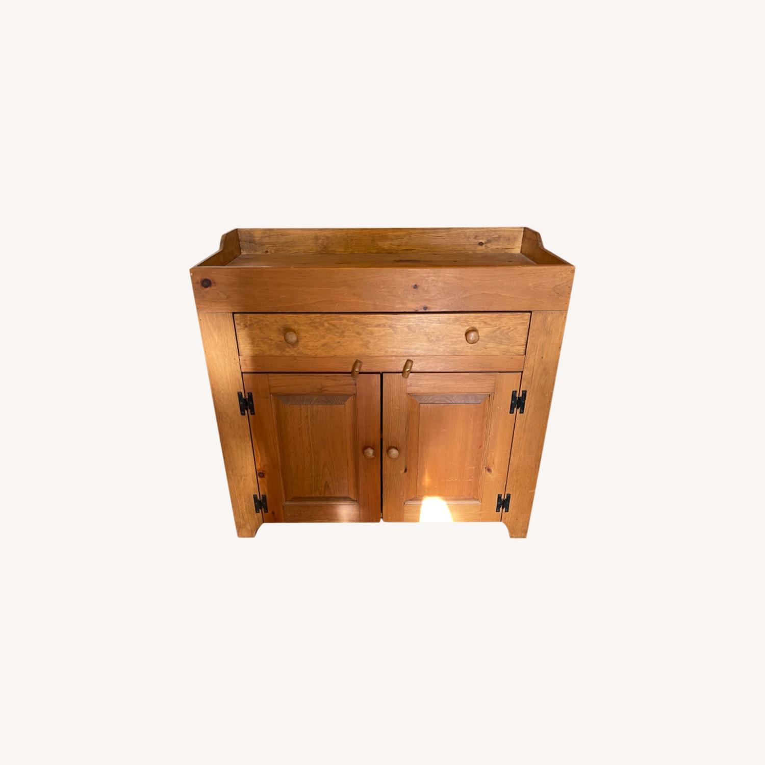 Solid Pine Distressed Changing Table - image-0
