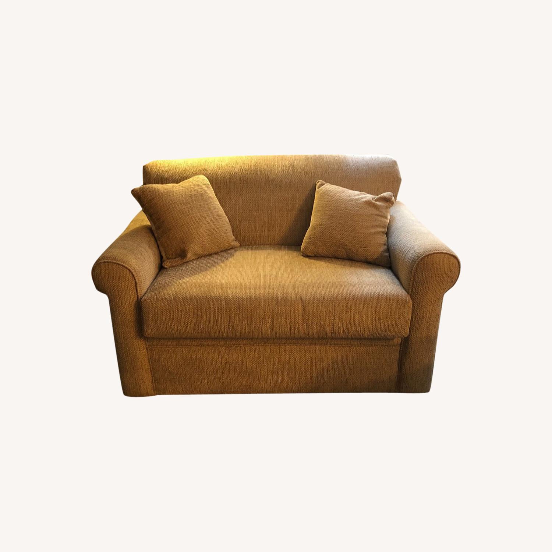 Raymour & Flanigan Sleeper Loveseat Sofa - image-0