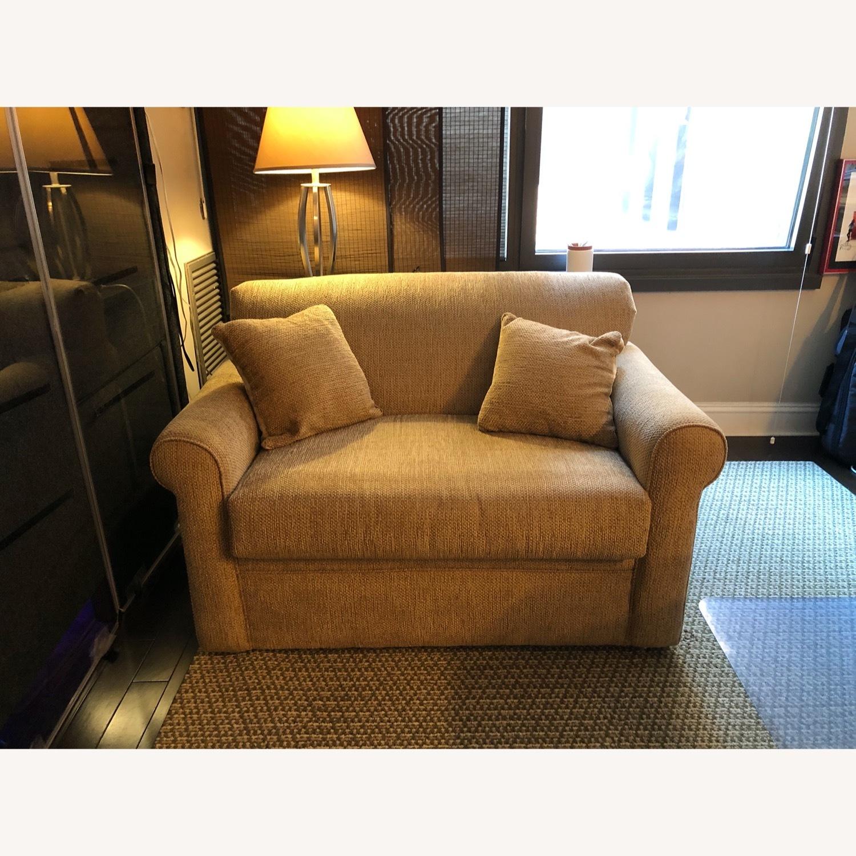 Raymour & Flanigan Sleeper Loveseat Sofa - image-1