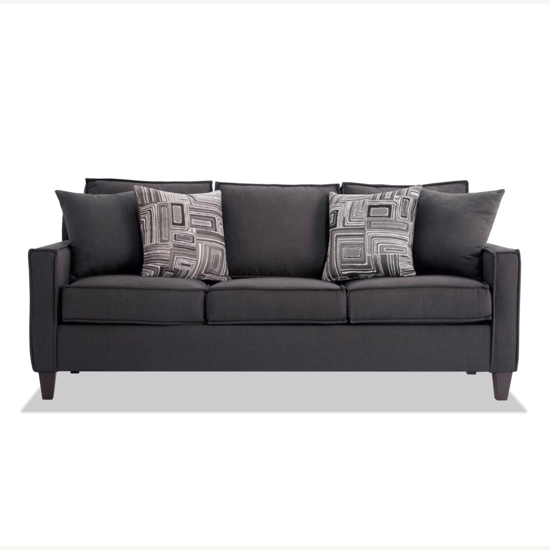 Bobs 72inch Jessie Sleeper Sofa w/ Ottoman - image-1