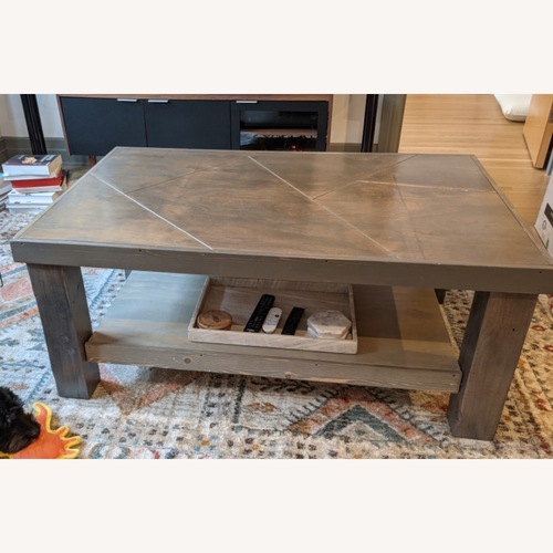 Used Handmade Recycled Wood Table for sale on AptDeco