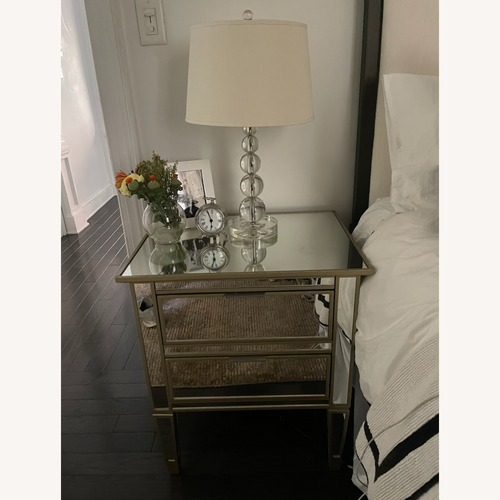 "Used Pottery Barn Park 24"" Mirrored Nightstand for sale on AptDeco"