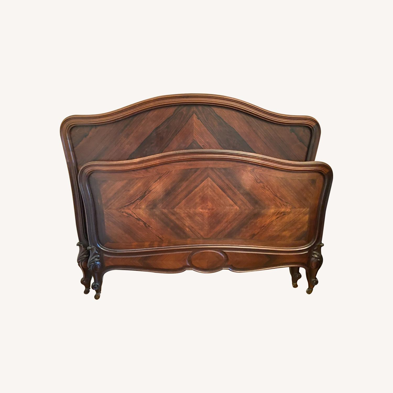1880's Antique French Rosewood Bed - image-0