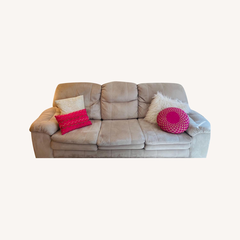 Art Van Beige Sleeper Sofa - image-0