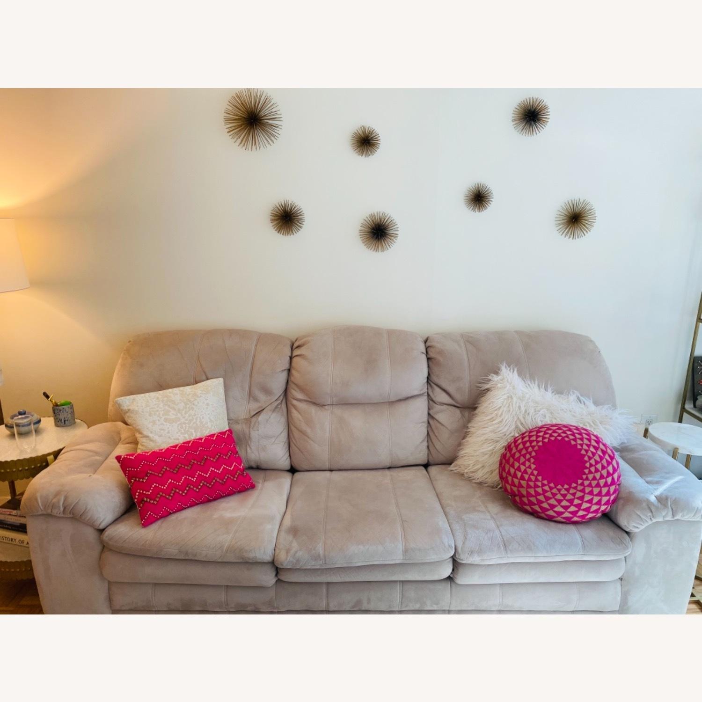 Art Van Beige Sleeper Sofa - image-1