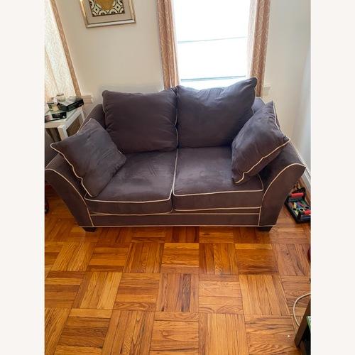 Used Raymour & Flanigan Briarwood Microfiber Sofa for sale on AptDeco